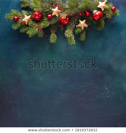 christmas wreath on the wood background stock photo © sandralise