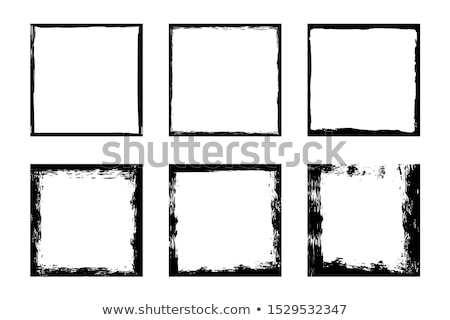 Encre frontière carré illustré chambre propre Photo stock © nicemonkey