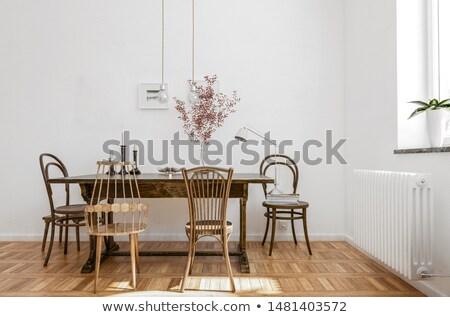 confortável · canto · quarto · mobiliário · casa - foto stock © nalinratphi