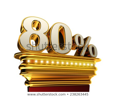 Stock photo: Eighty percent figure over white background