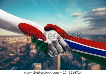 Ręce pracy laptop Gambia ekranu Zdjęcia stock © michaklootwijk