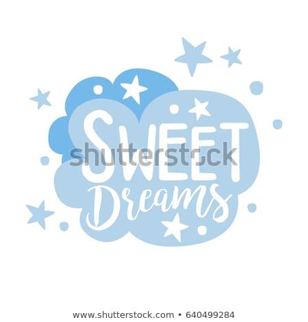Chmury tekst marzenia obraz Błękitne niebo świetle Zdjęcia stock © w20er