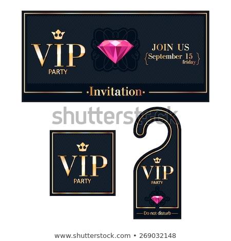 Vip diamantes tarjeta fiesta moda tienda Foto stock © carodi