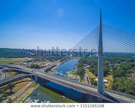nuevos · puente · Belgrado · coche · carretera · construcción - foto stock © simply