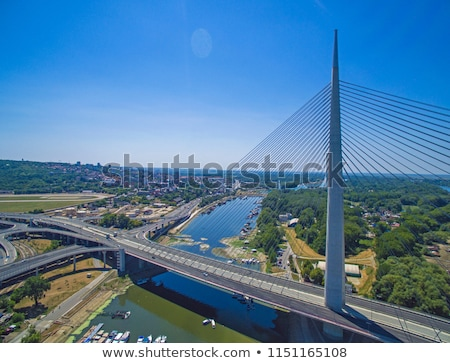 Ada bridge in Belgrade Stock photo © simply