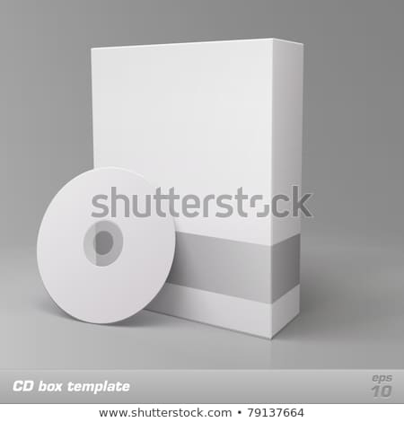 blank box and cd or dvd disk stock photo © ozaiachin