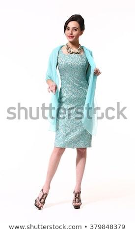 Akvamarin üzlet hölgy végtelen minta jpg formátum Stock fotó © Voysla