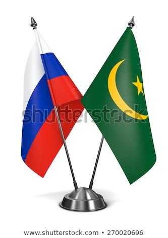 Russia and Mauritania - Miniature Flags. Stock photo © tashatuvango