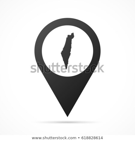 Magas részletes vektor térkép Izrael navigáció Stock fotó © tkacchuk