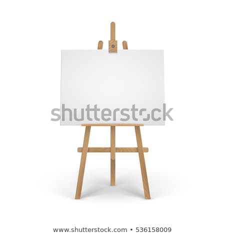 Wooden Easel with Blank Painting Canvas Stock photo © stevanovicigor