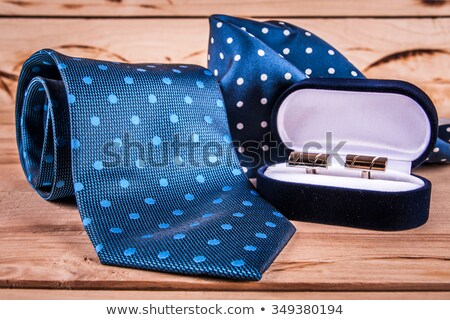 Silver cuff links in red box Stock photo © vtls