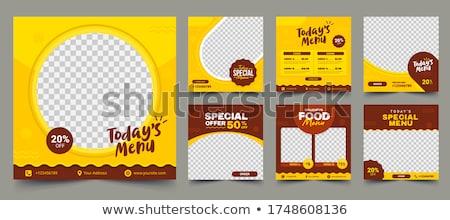 menu banner Stock photo © Pinnacleanimates