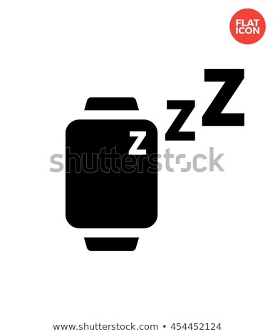 Sleep mode in smart watches simple icon on white background. Stock photo © tkacchuk