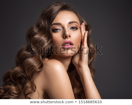 face of voluptuous girl Stock photo © ssuaphoto