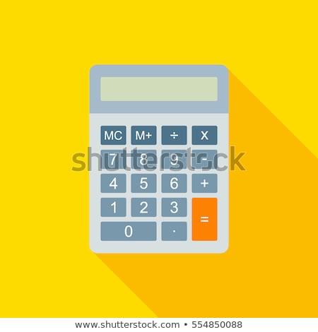 beneficio · botón · calculadora · pluma · financiar · informe - foto stock © tycoon