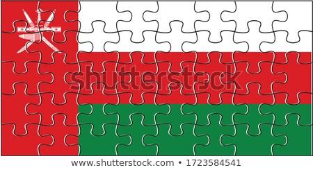 европейский Союза Оман флагами головоломки изолированный Сток-фото © Istanbul2009