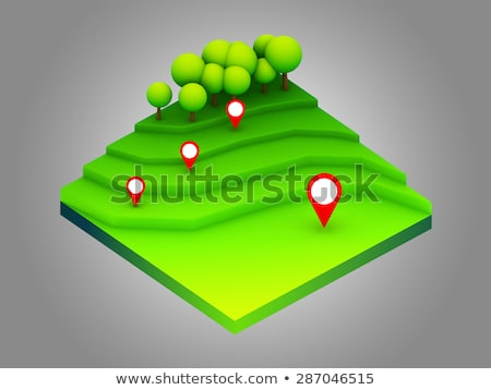 landscape concept isometric infographic,showing data analytics Stock photo © teerawit