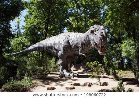 Oude uitgestorven dinosaurus model mond sterke Stockfoto © OleksandrO