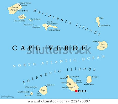 Map of Santo Antao Stock photo © rbiedermann