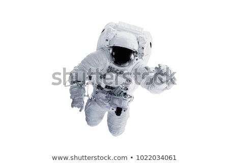 lány · űrhajós · jelmez · gyermek · játék · rakéta - stock fotó © choreograph