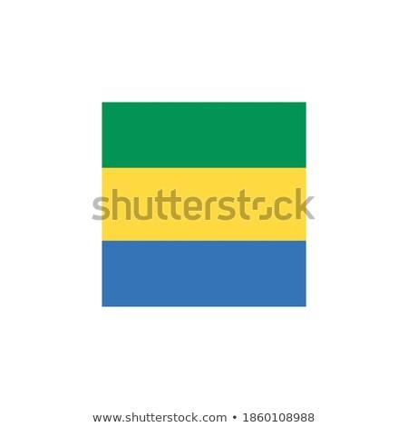 Piazza icona bandiera Gabon isolato bianco Foto d'archivio © MikhailMishchenko
