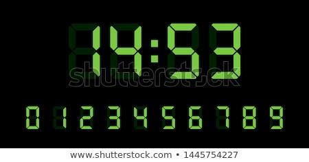 Digital relógio isolado branco metal ouro Foto stock © Filata