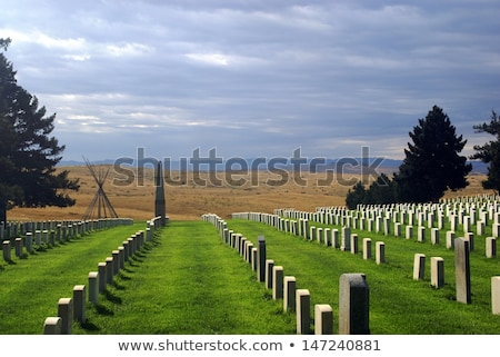Cemetery And Battlefield At Little Bighorn Stock photo © searagen
