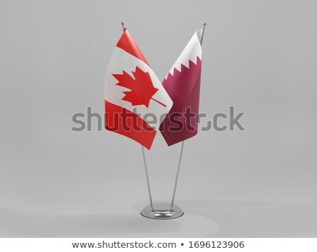 Канада Катар флагами головоломки изолированный белый Сток-фото © Istanbul2009