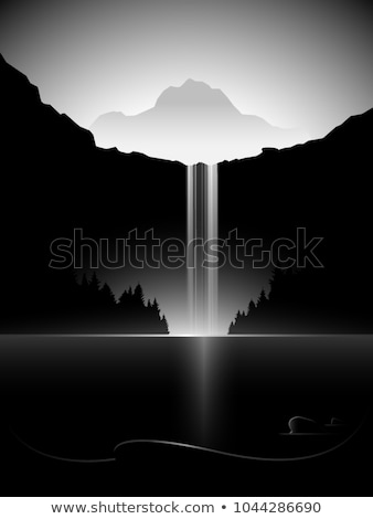 стилизованный водопад природы горные искусства путешествия Сток-фото © tracer