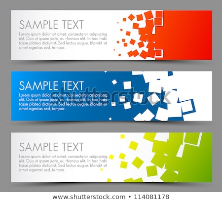 Simple colorful horizontal banners - with square motive Stock photo © orson