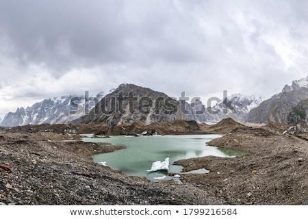 jéghegy · tó · olvad · hatalmas · Izland · víz - stock fotó © Hofmeester