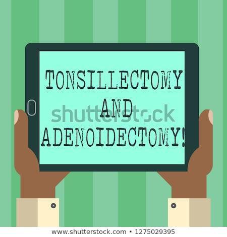 Tonsillitis on the Display of Medical Tablet. Stock photo © tashatuvango