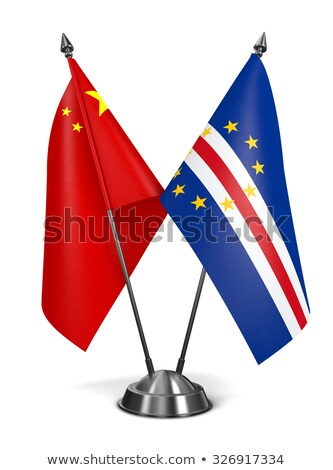 Stock photo: China and Cape Verde - Miniature Flags.