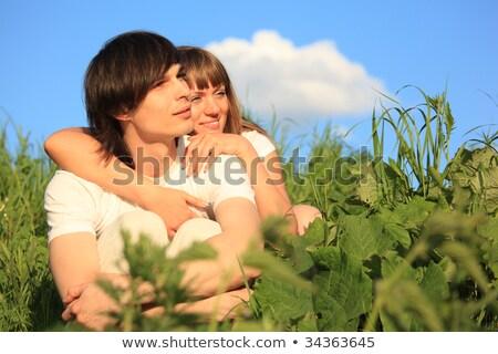 девушки · парень · за · трава · семьи · стороны - Сток-фото © Paha_L