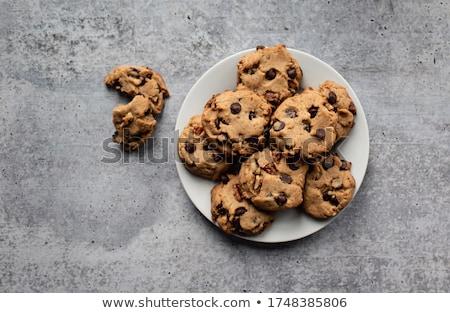 チョコレート ナット クッキー コピースペース キャンディ ナッツ ストックフォト © rojoimages