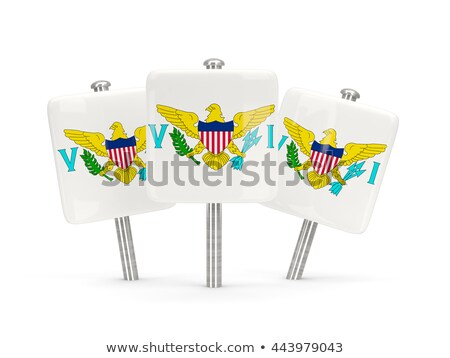 square pin with flag of virgin islands us stock photo © mikhailmishchenko