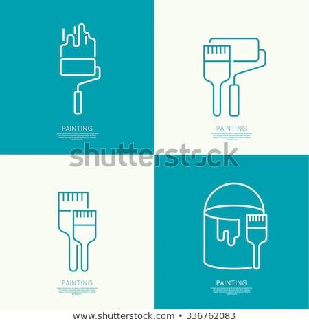 house painting line icon stock photo © rastudio