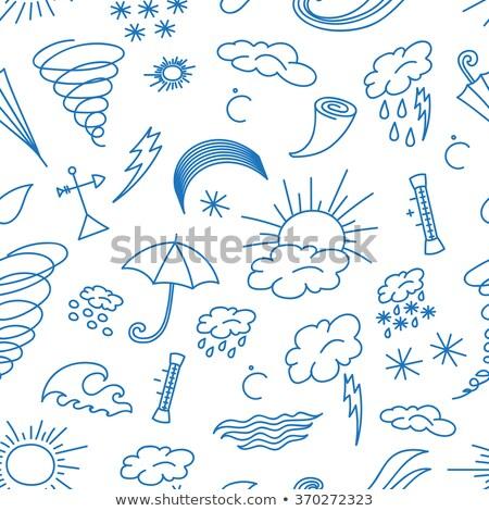 doodle patern weather stock photo © netkov1