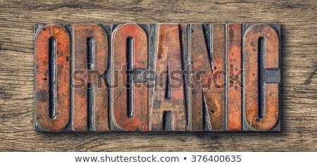 Antique letterpress wood type printing blocks -- Organic Stock photo © Zerbor