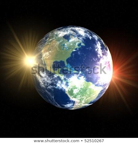 création · terre · artiste · galaxie · collage - photo stock © sebikus
