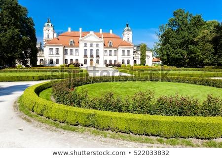 Palacio Polonia jardín castillo arquitectura planta Foto stock © phbcz