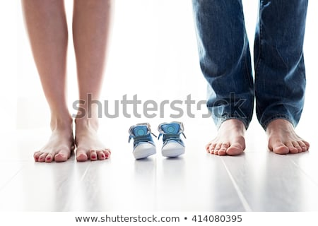 Stock photo: Happy family, parents waiting for a baby