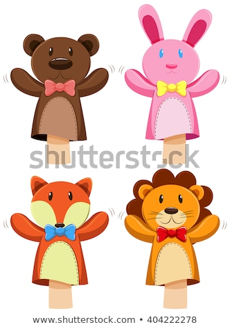 Different kind of animal puppet Stock photo © bluering