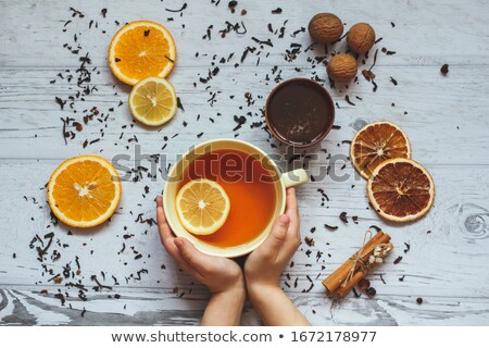 honey tea and medicine flue concept stock photo © milanmarkovic78