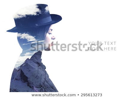portret · effect · meervoudig · blootstelling · naakt · meisje - stockfoto © zurijeta