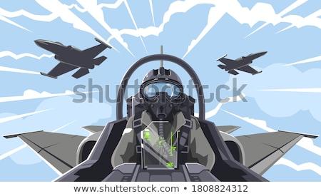 Combattente aeromobili illustrazione bianco piano scienza Foto d'archivio © bluering