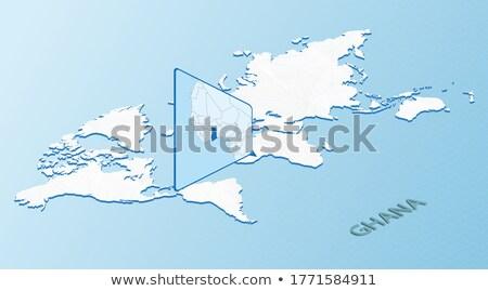 Сток-фото: Isometric Map Of Ghana Detailed Vector Illustration