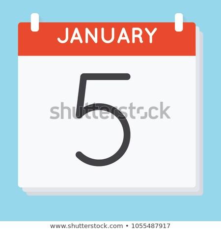 icon calendar spiral 5 stock photo © oakozhan