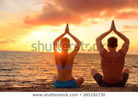 yogi on the beach Stock photo © cynoclub