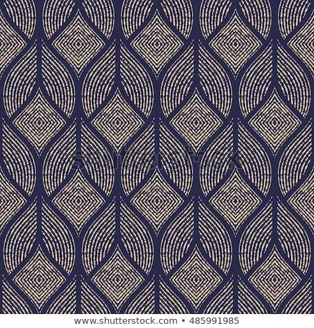 幾何学的な · 金 · パターン · ファッション - ストックフォト © Said